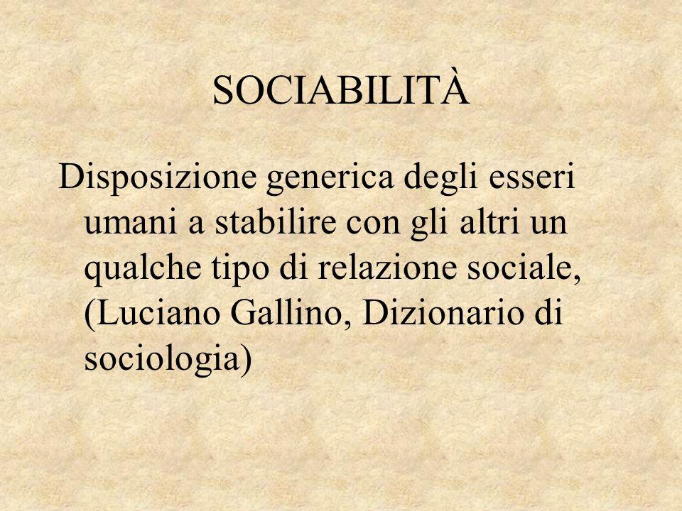 SOCIABILITÀ