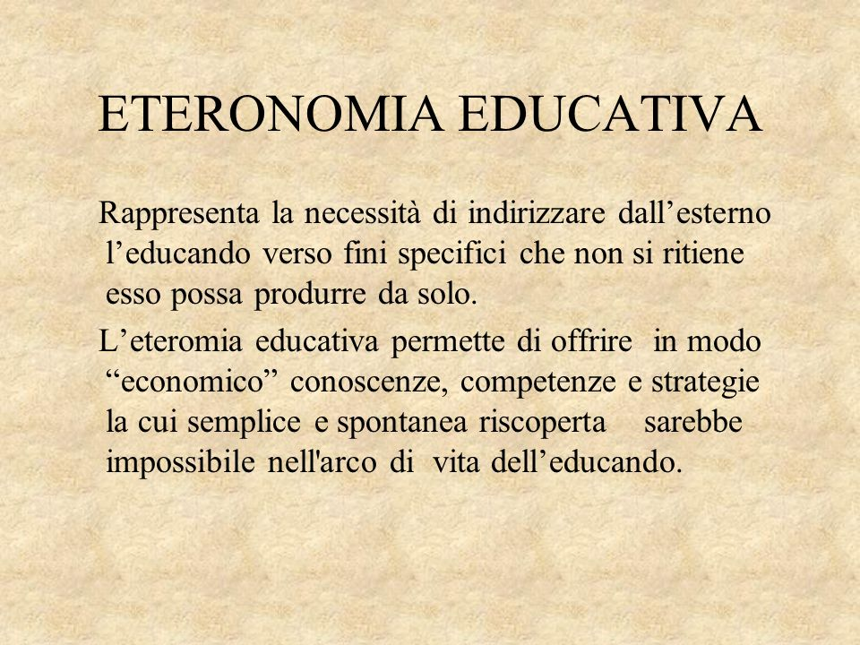 ETERONOMIA EDUCATIVA