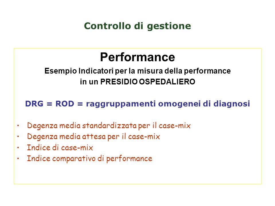 Performance Controllo di gestione