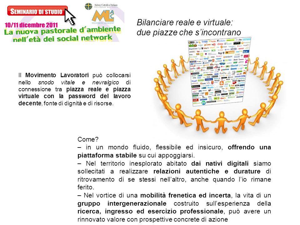 Bilanciare reale e virtuale: due piazze che s'incontrano