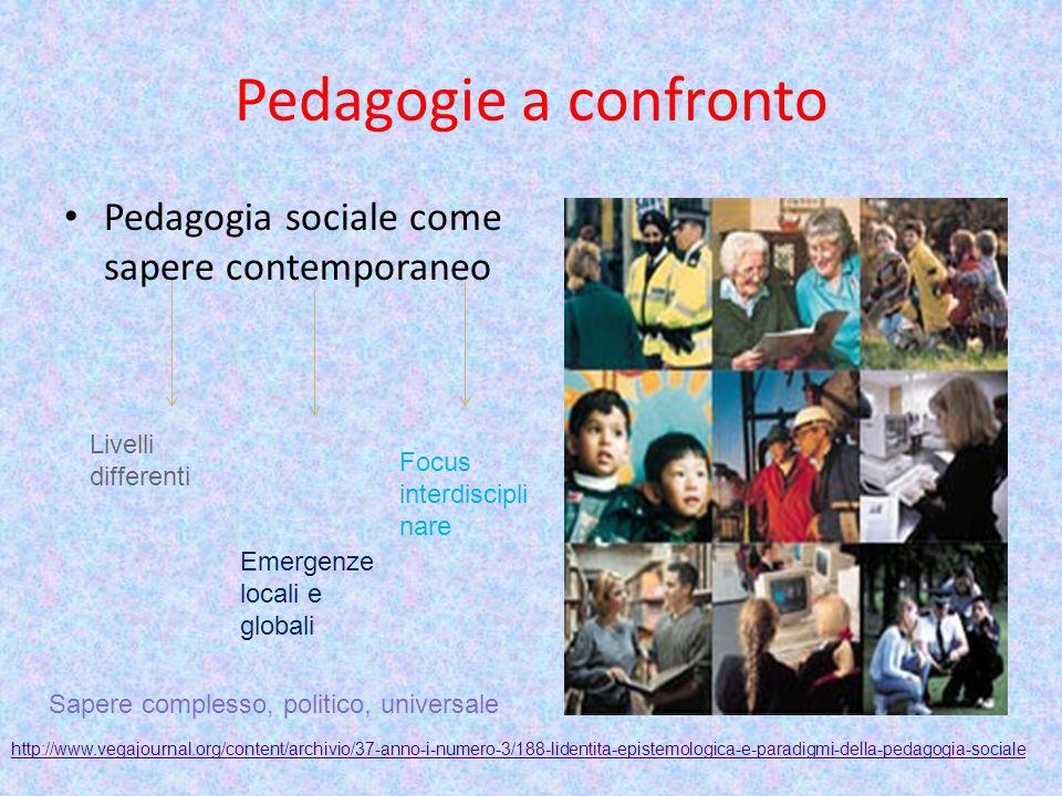 Pedagogie a confronto Pedagogia sociale come sapere contemporaneo
