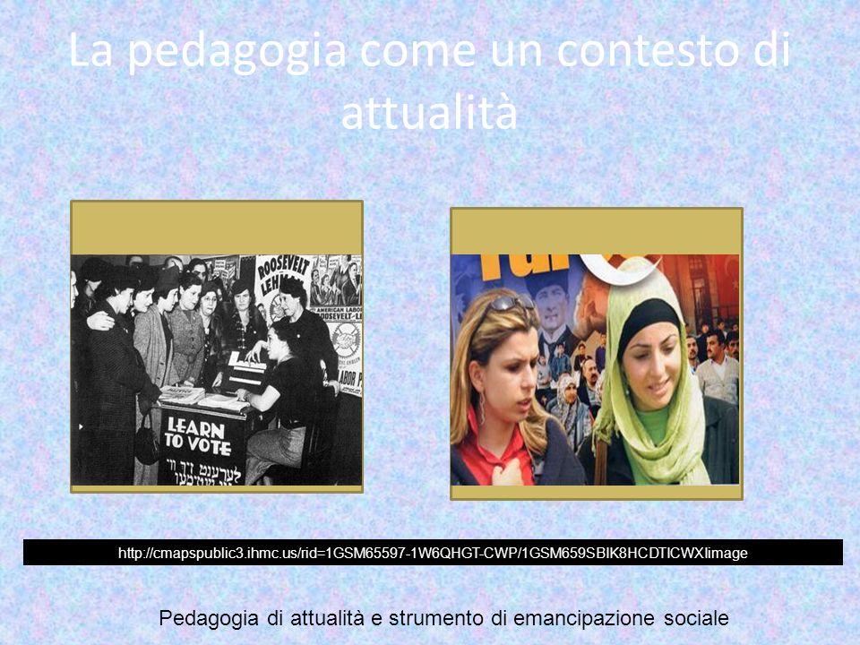 La pedagogia come un contesto di attualità