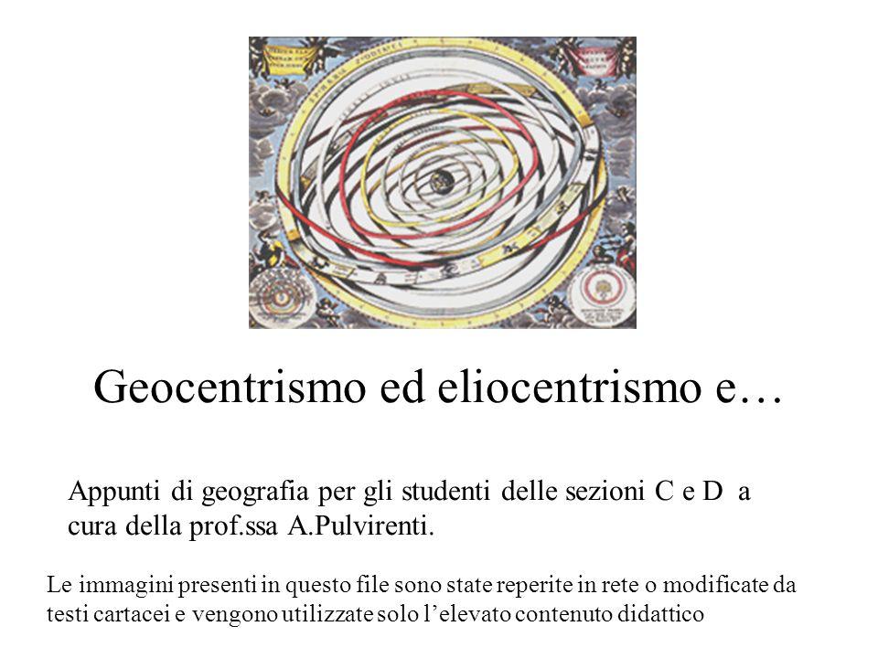 Geocentrismo ed eliocentrismo e…