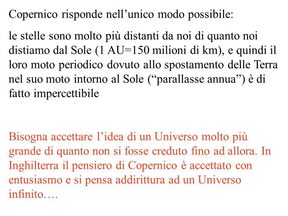 Copernico risponde nell'unico modo possibile: