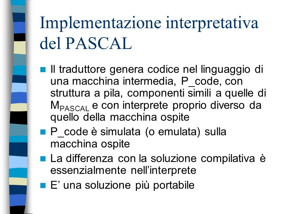 Implementazione interpretativa del PASCAL