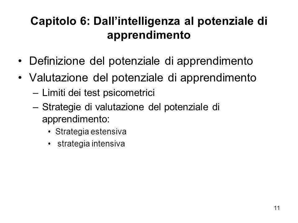 Capitolo 6: Dall'intelligenza al potenziale di apprendimento