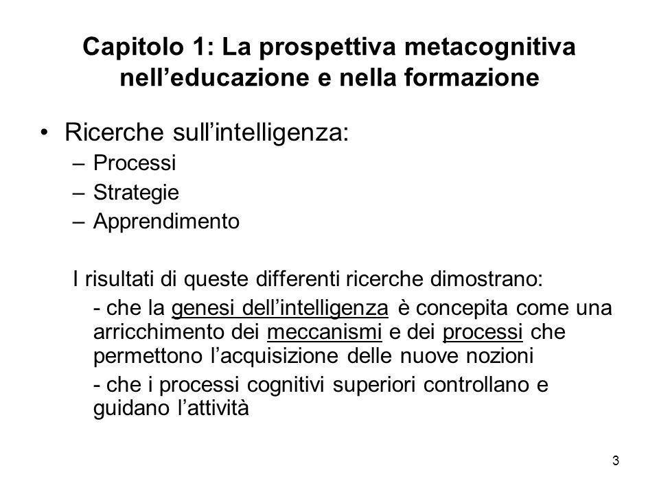 Ricerche sull'intelligenza: