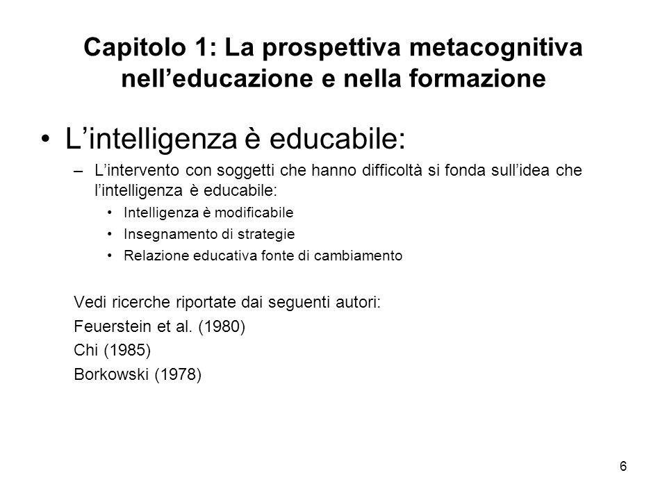L'intelligenza è educabile: