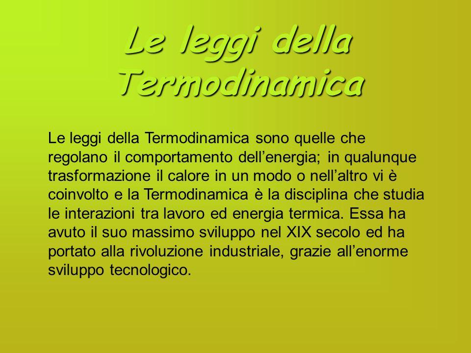Le leggi della Termodinamica