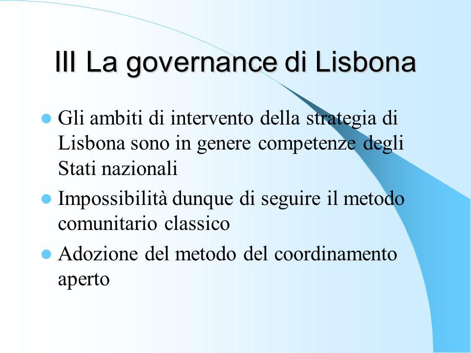 III La governance di Lisbona