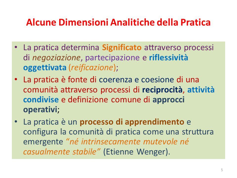Alcune Dimensioni Analitiche della Pratica