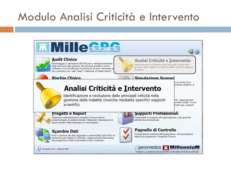 Modulo Analisi Criticità e Intervento
