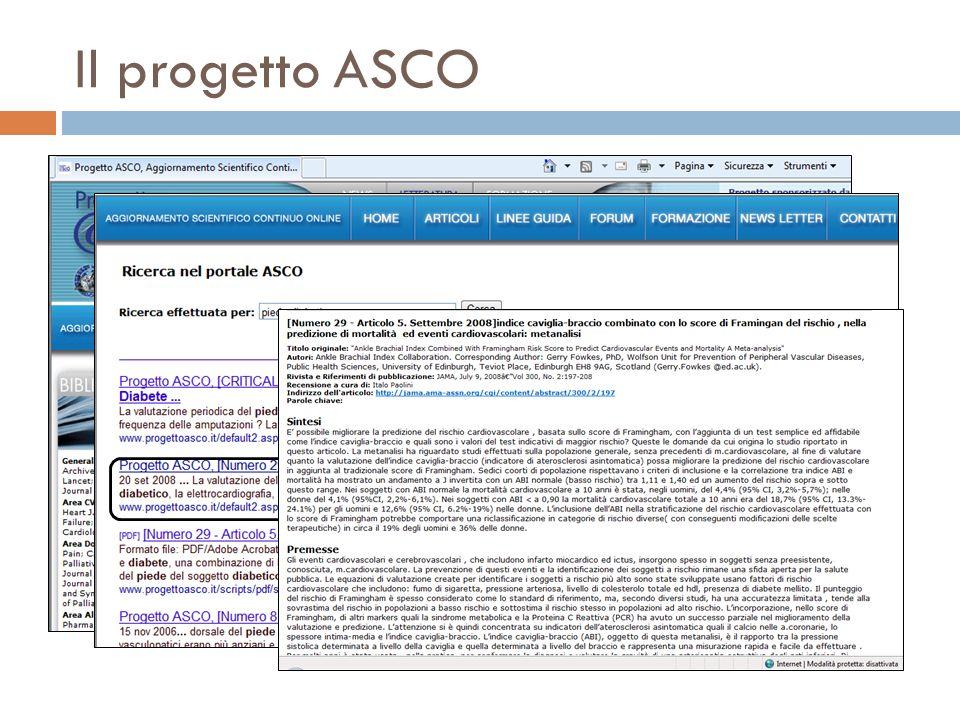 Il progetto ASCO