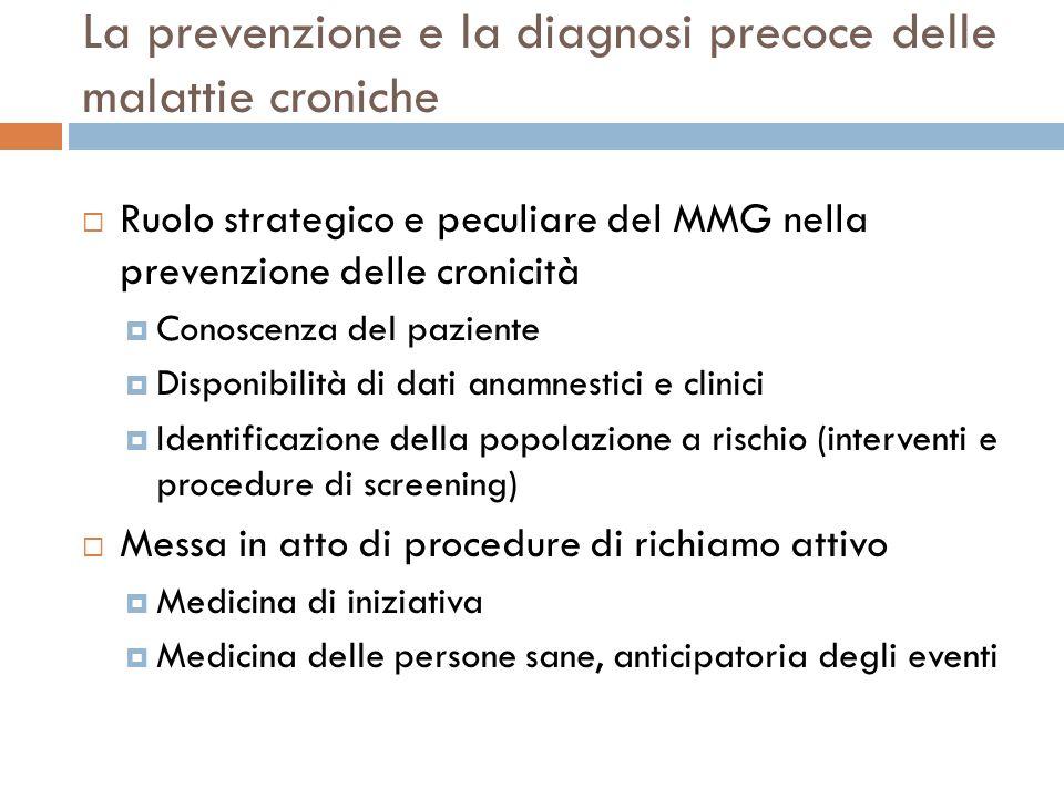 La prevenzione e la diagnosi precoce delle malattie croniche