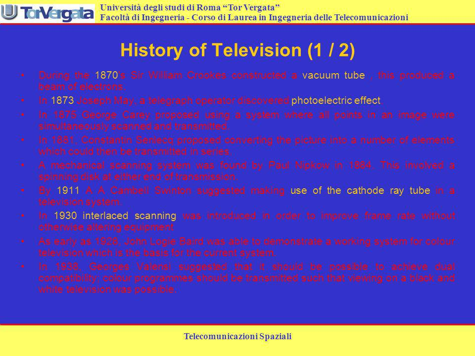History of Television (1 / 2)