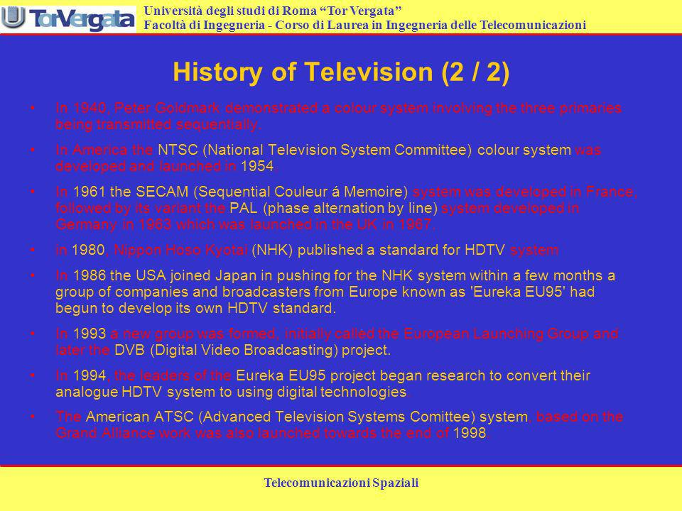 History of Television (2 / 2)