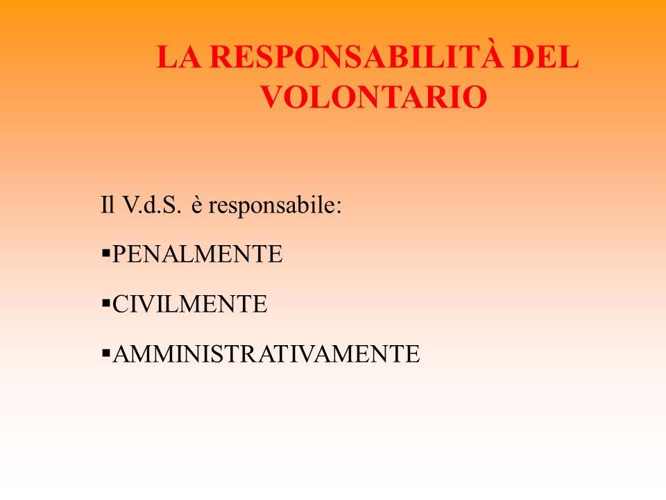 LA RESPONSABILITÀ DEL VOLONTARIO