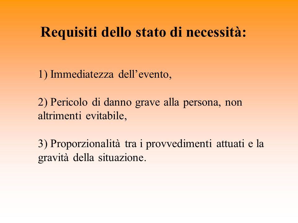 Requisiti dello stato di necessità:
