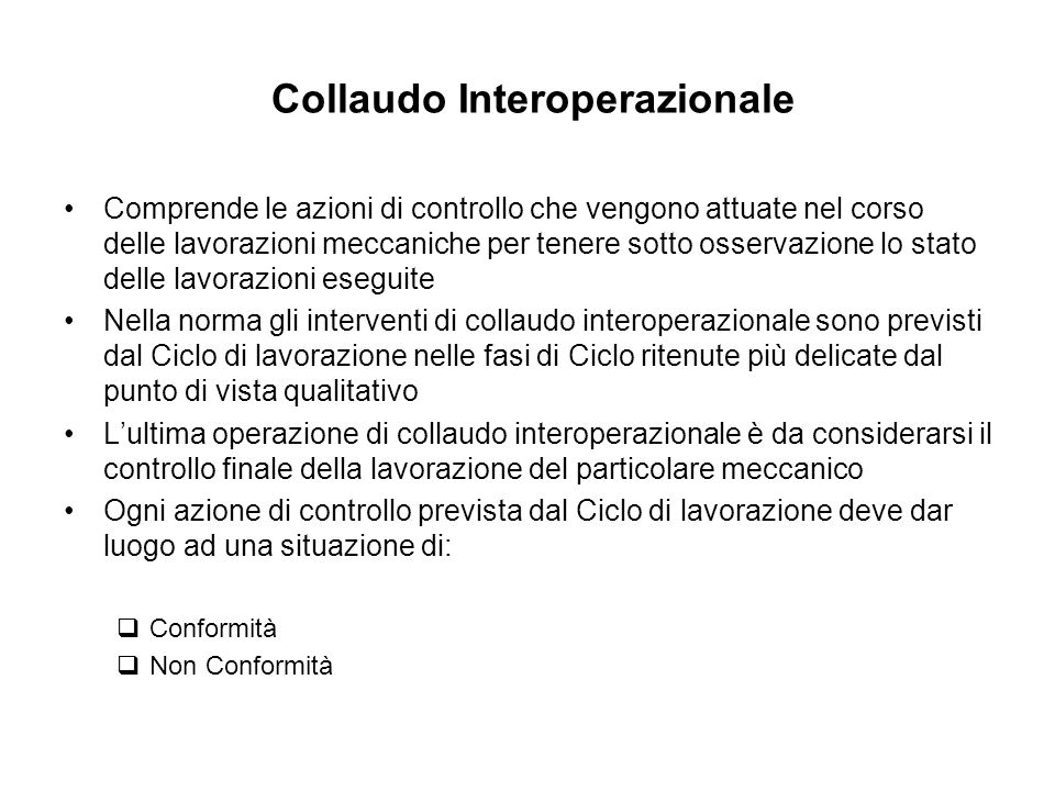 Collaudo Interoperazionale