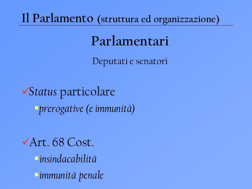 Parlamentari Il Parlamento (struttura ed organizzazione)