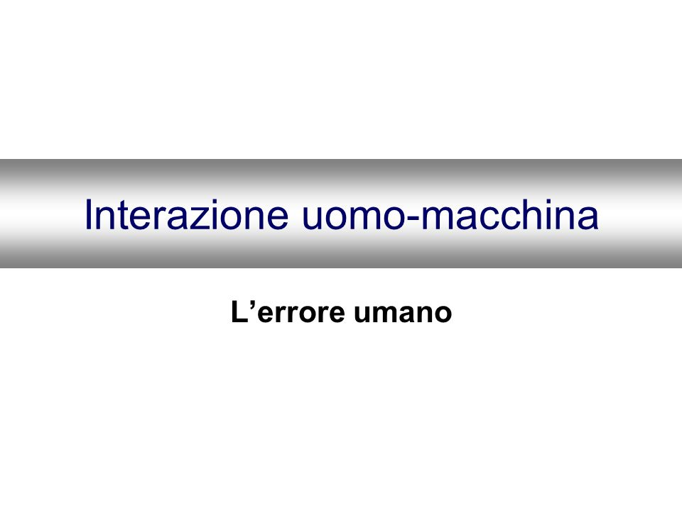 Interazione uomo-macchina