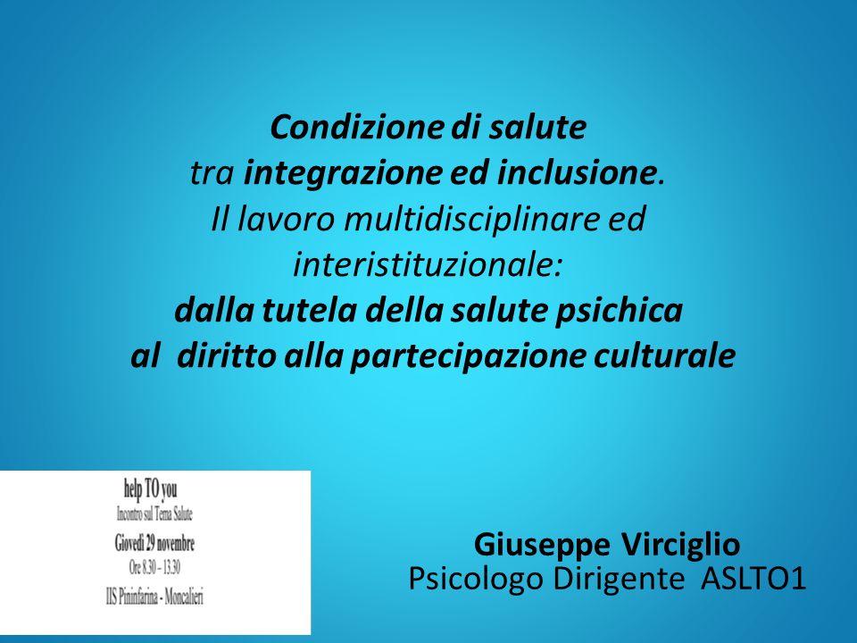 Giuseppe Virciglio Psicologo Dirigente ASLTO1