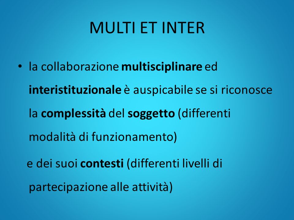 MULTI ET INTER