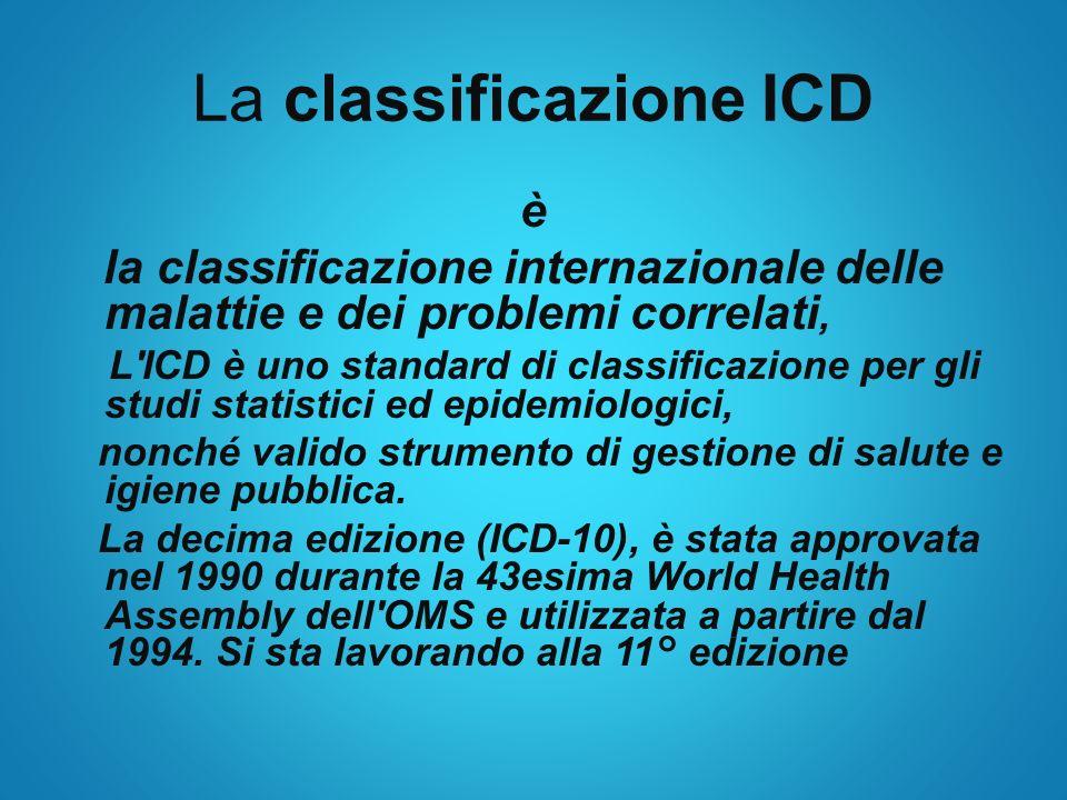 La classificazione ICD