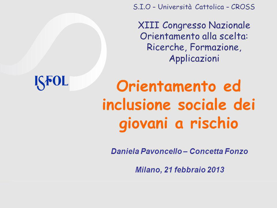 Orientamento ed inclusione sociale dei giovani a rischio