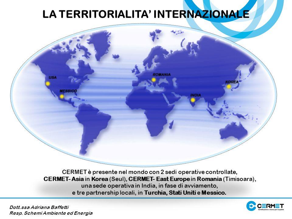 LA TERRITORIALITA' INTERNAZIONALE