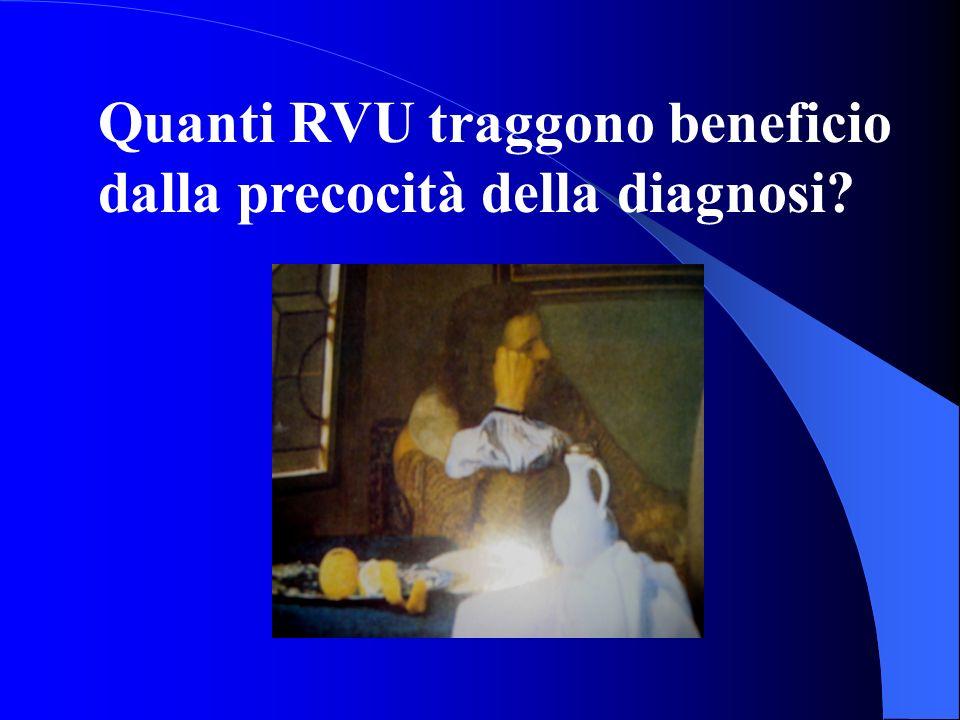Quanti RVU traggono beneficio dalla precocità della diagnosi