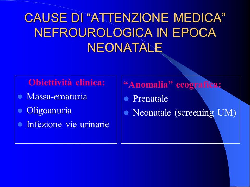 CAUSE DI ATTENZIONE MEDICA NEFROUROLOGICA IN EPOCA NEONATALE