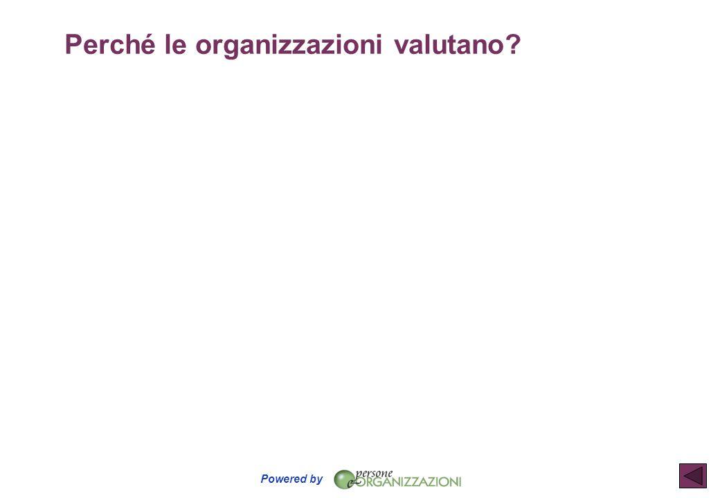 Perché le organizzazioni valutano