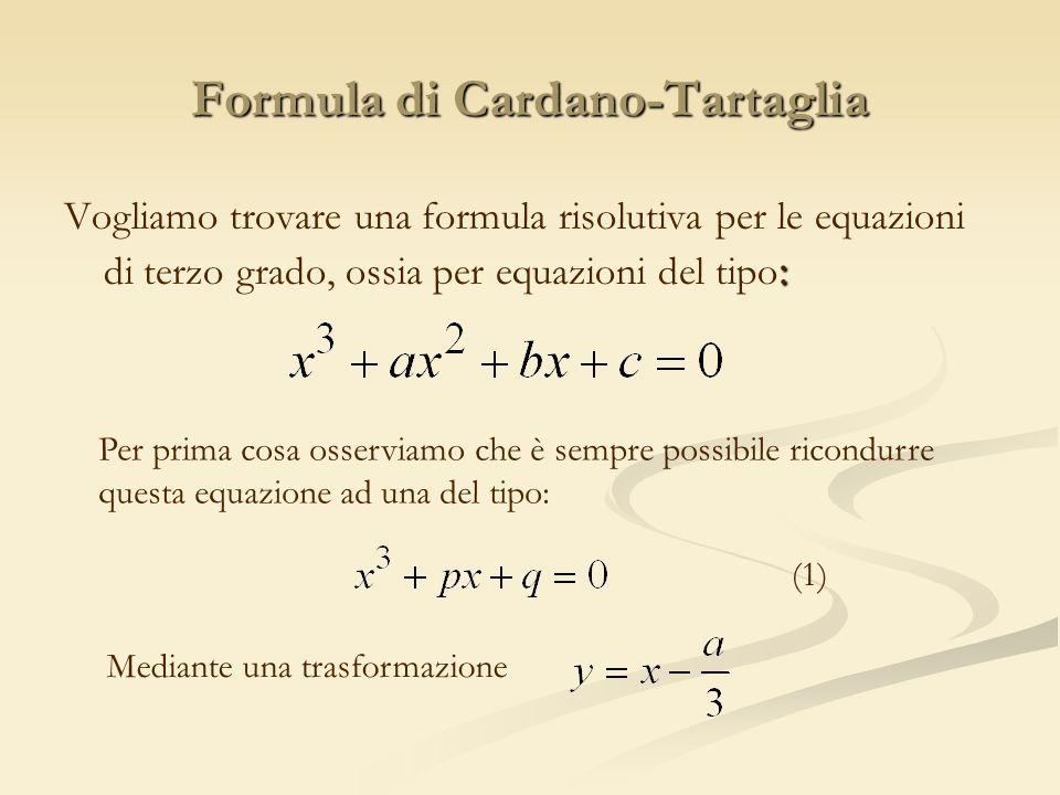 Formula di Cardano-Tartaglia