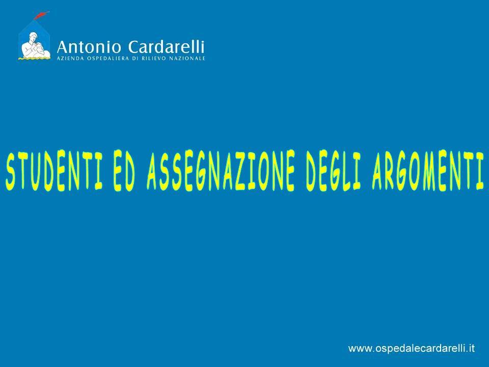 STUDENTI ED ASSEGNAZIONE DEGLI ARGOMENTI