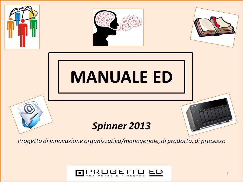 MANUALE ED Spinner 2013 Progetto di innovazione organizzativa/manageriale, di prodotto, di processo