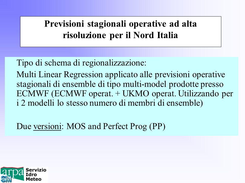 Previsioni stagionali operative ad alta risoluzione per il Nord Italia