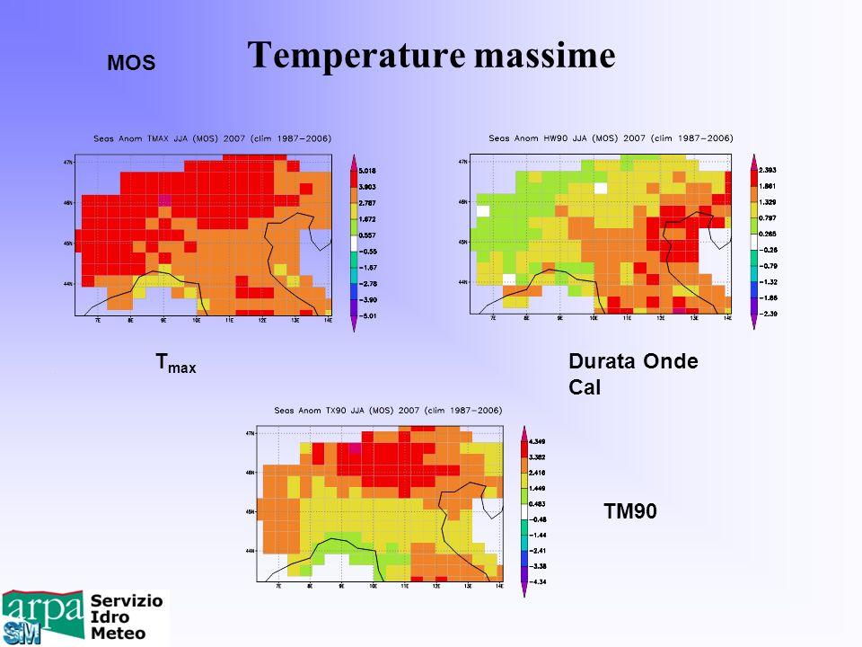 Temperature massime MOS Tmax Durata Onde Cal TM90