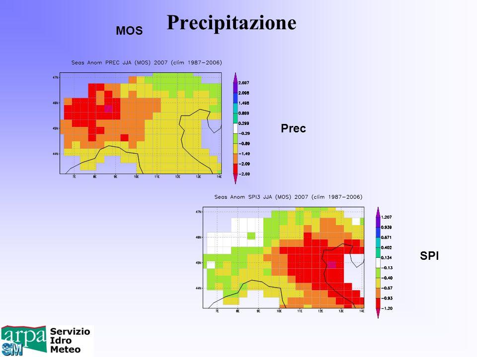 Precipitazione MOS Prec SPI