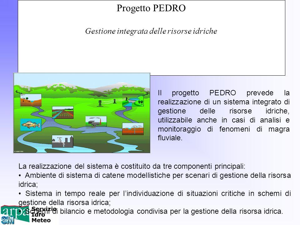 Progetto PEDRO Gestione integrata delle risorse idriche