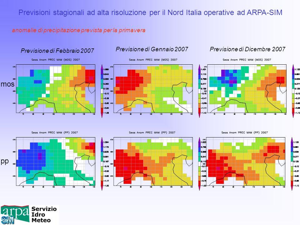 Previsioni stagionali ad alta risoluzione per il Nord Italia operative ad ARPA-SIM