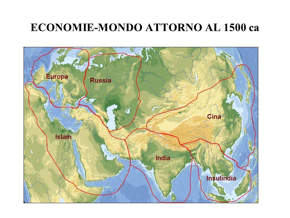 ECONOMIE-MONDO ATTORNO AL 1500 ca