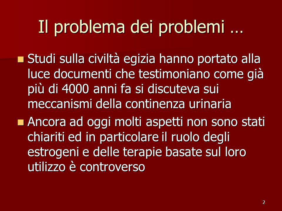 Il problema dei problemi …