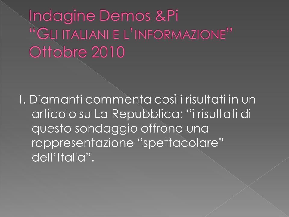 Indagine Demos &Pi Gli italiani e l'informazione Ottobre 2010