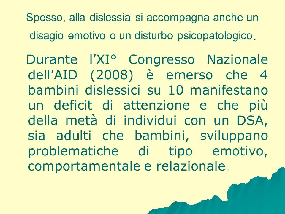 Spesso, alla dislessia si accompagna anche un disagio emotivo o un disturbo psicopatologico.