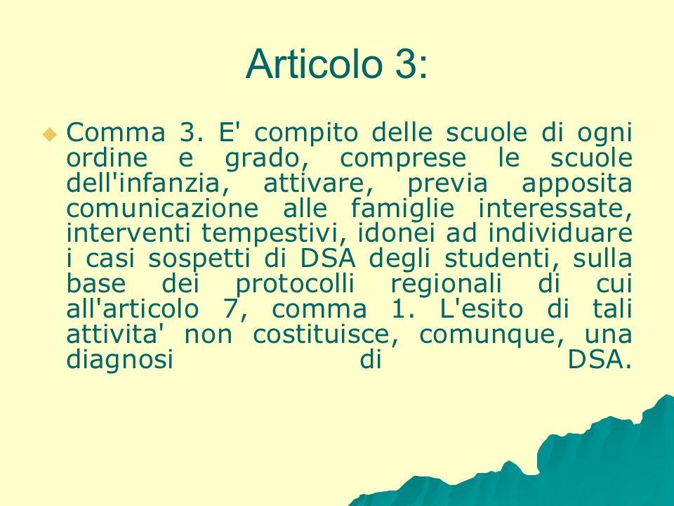 Articolo 3: