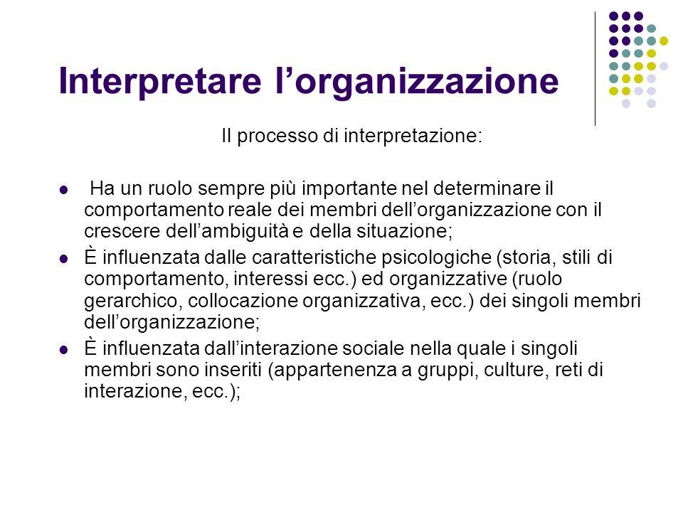 Interpretare l'organizzazione