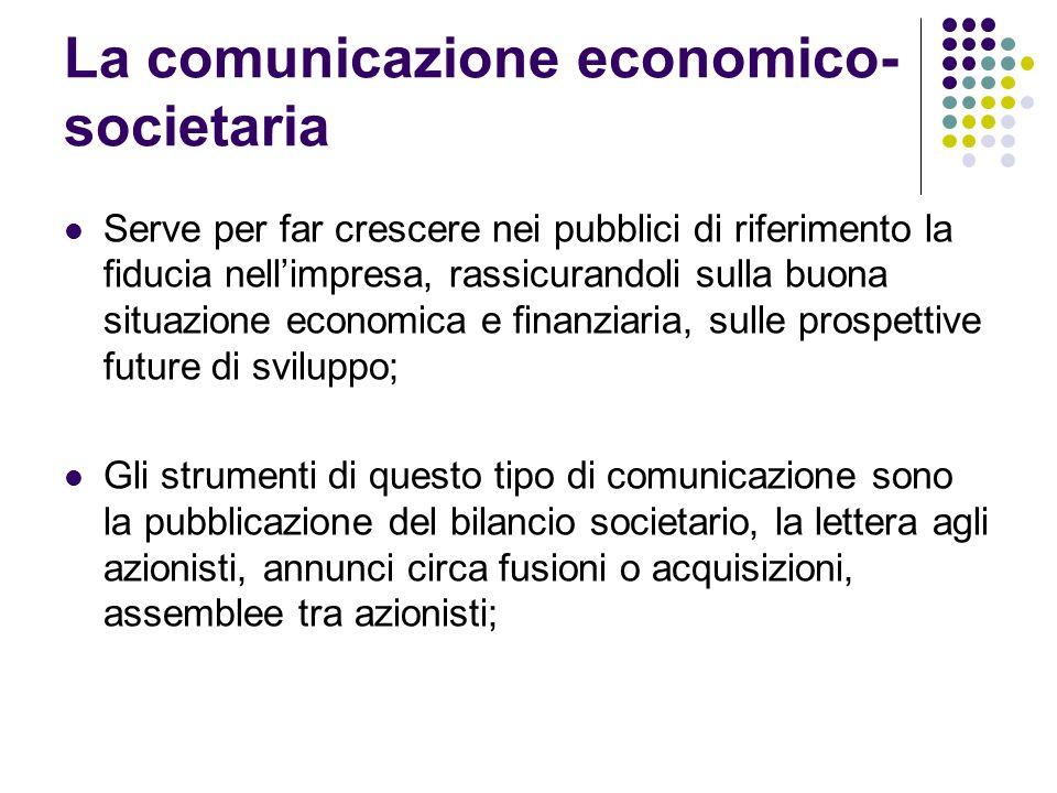 La comunicazione economico-societaria