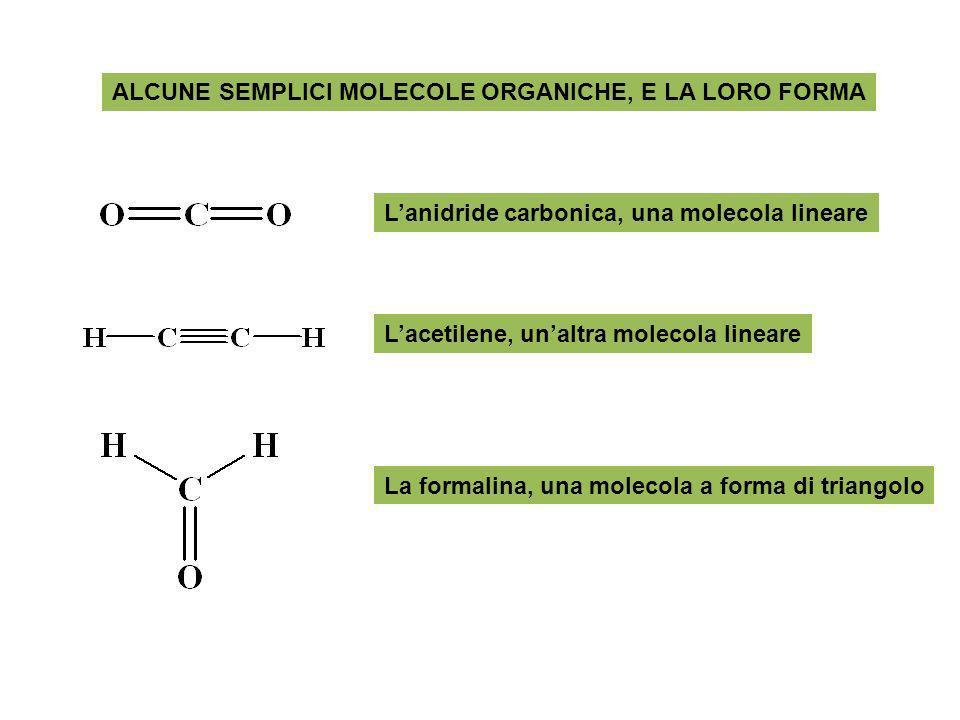 ALCUNE SEMPLICI MOLECOLE ORGANICHE, E LA LORO FORMA