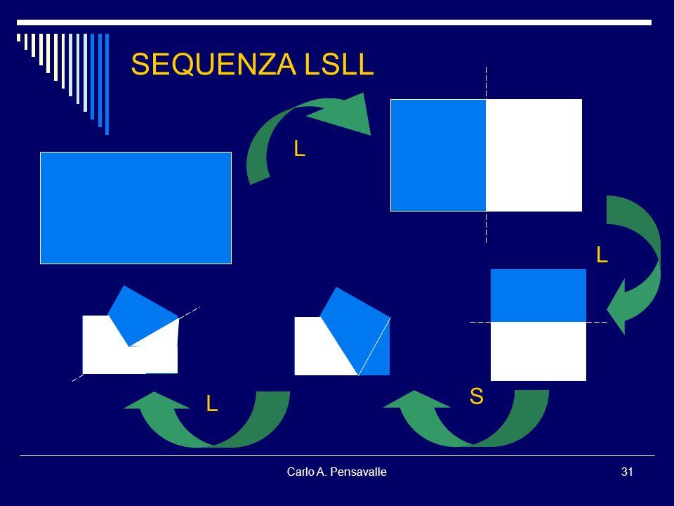 SEQUENZA LSLL L L S L Carlo A. Pensavalle